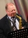 Alan Barnes on alto sax