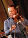 Dan Hewson on trombone and piano