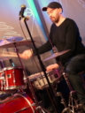 Laurie Lowe on drums